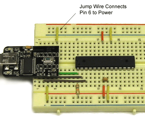 Figure 13. Connecting the USB programming board to power.
