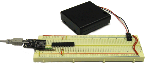 About the ATmega Board The ATmega Board is a configuration of wires and components on the breadboard that allows you to rapidly build programmable electronics and robotics projects.