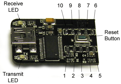 About the USB Programming Board The USB programming board is a small printed circuit board that lets your computer communicate with the microcontroller.