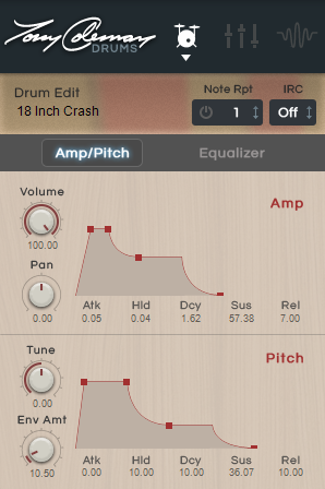 Output (16-Out Version Only) The 16-Out version of Tony Coleman Drums lets you assign each drum or cymbal sound to a specific output channel (1 8).