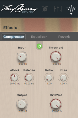 Compressor This applies compression to the preset (or output in the 16- Out version), reducing the audio signal if it exceeds a certain level (the threshold).