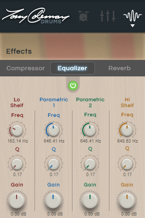 Equalizer This applies equalization to the preset (or output in the 16- Out version), boosting (increasing) or cutting (reducing) different frequency bands to shape it.
