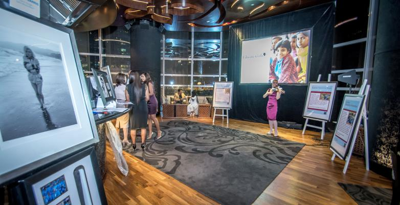 Educate Girls Globally Launch of UAE Chapter The Lounge at Mint Leaf was converted into a mini