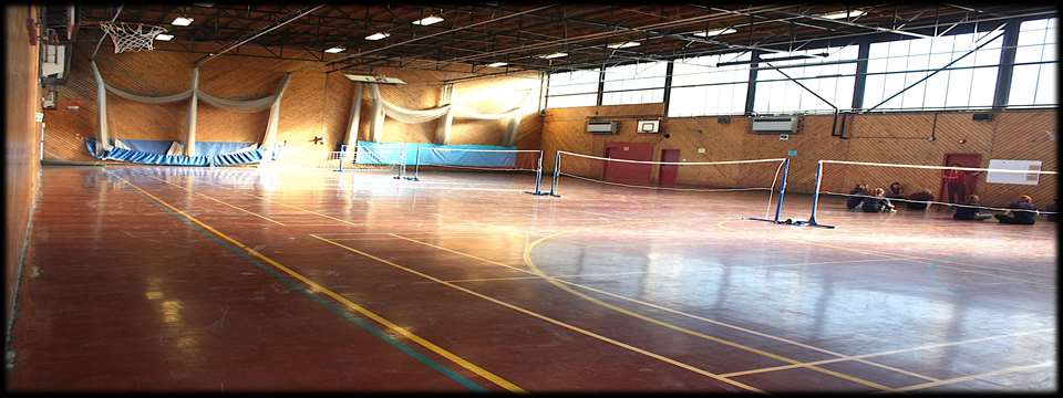 Gymnasium 24.00 room hire Badminton 7.00 per court Wooden sprung floor mainly used for gymnastics, also has a full size badminton court and basketball court.