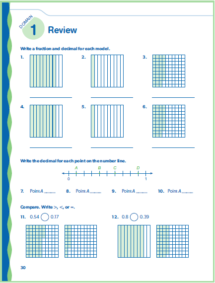 Math Domain Review 3 pages of questions that cover all standards taught in the domain Includes multiple choice, fill-ins, word