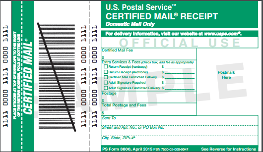 Market Dominant Highlights Domestic Special Services Certified Mail Price increase - from $3.30 to $3.35 Same price, electronic or retail W/ one of three options: $8.35 ($0.
