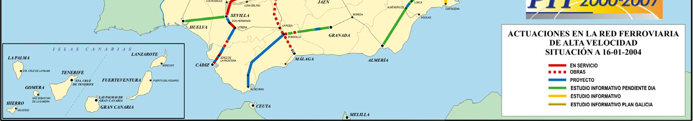 Integration of the entire European rail network involves changing the Spanish rail network to the European width. This change is an expensive process that can take a long time.