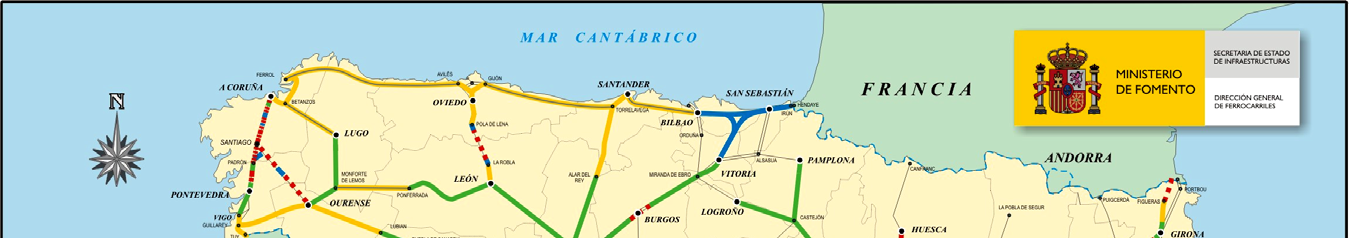 4 Urban Transport XXI Figure 1: PIT 2000 2007, degree of development rail network in 2004. (Source: Ministerio de Fomento, Spain.) In 1999, a new plan was approved: Infrastructures Plan 2000-2007.