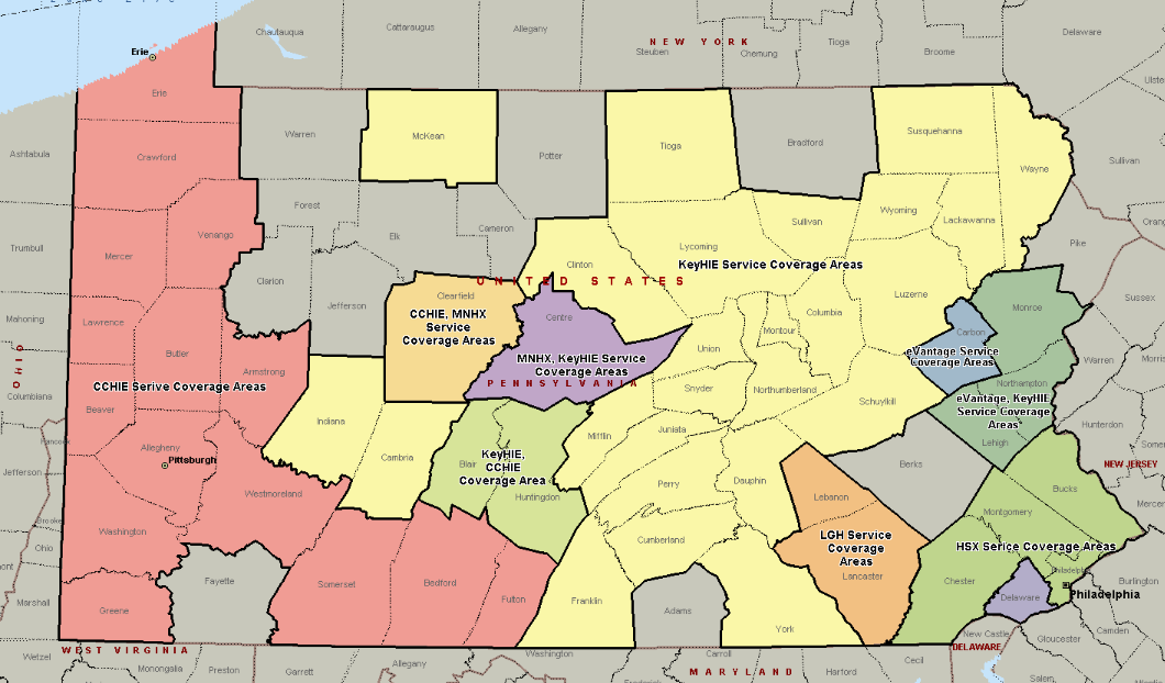 HIOs Currently Operational in the Commonwealth Note: Pennsylvania counties shown in