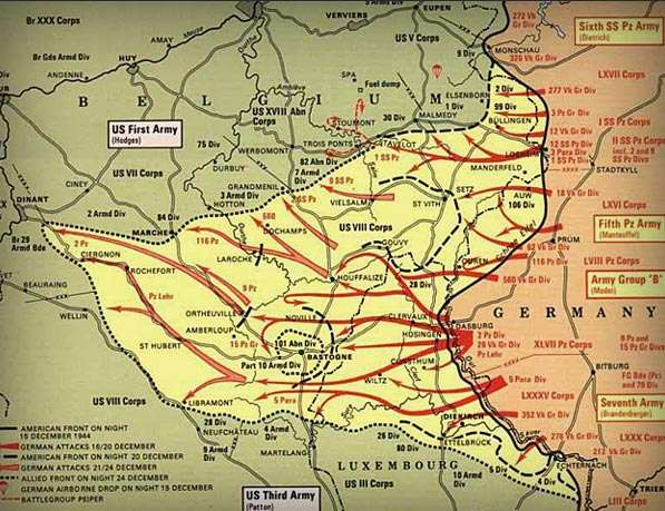 (39) BATTLE OF THE BULGE The Battle of the Bulge was Germany s last gasp The battle raged for a month the Germans had been pushed back.