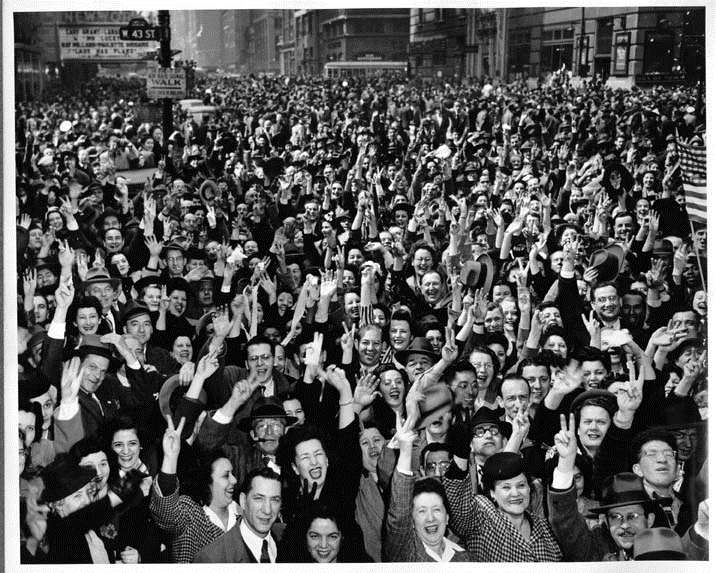 j. May 8, 1945 Victory in Europe VE Day The celebration of official surrender of Germany