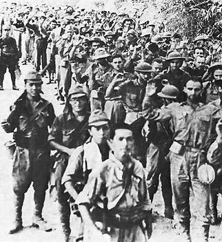 Bataan Death March 11,700 Americans and as many as 65,000 Filipinos began the 65-mile march from the Bataan Peninsula to San Fernando.