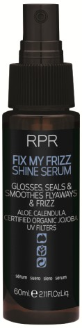 RPR FIX MY FRIZZ SMOOTHING FOR SMOOTH HAIR WITH SHINE. ANTI-FRIZZ & HUMIDITY Revel in smoother, silkier, shinier hair every time you wash with this anti-frizz shampoo.