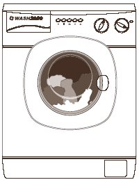Q4. (a) The picture shows a new washing machine. Complete the following sentence using one of the words in the box.