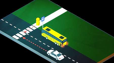 Driver Sees: Non-Line-of-Sight Scenario This scenario sequence demonstrates one example of the crash reduction potential of this new technology Additional scenarios address specific