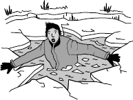 Q2. A walker falls through thin ice into very cold water. The walker s core body temperature falls. He may die of hypothermia (when core body temperature falls too low).
