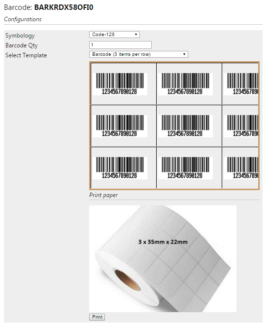 Symbology: change the default barcode type to others if needed, such as Ean-5, Ean- 8, etc.