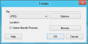 You see a window like this: Epson JPEG File Settings 3. Select the image format for the saved files from the File or File Type list. 4.