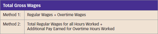 Calculating Overtime Pay Two methods to calculate overtime pay Add regular wages to