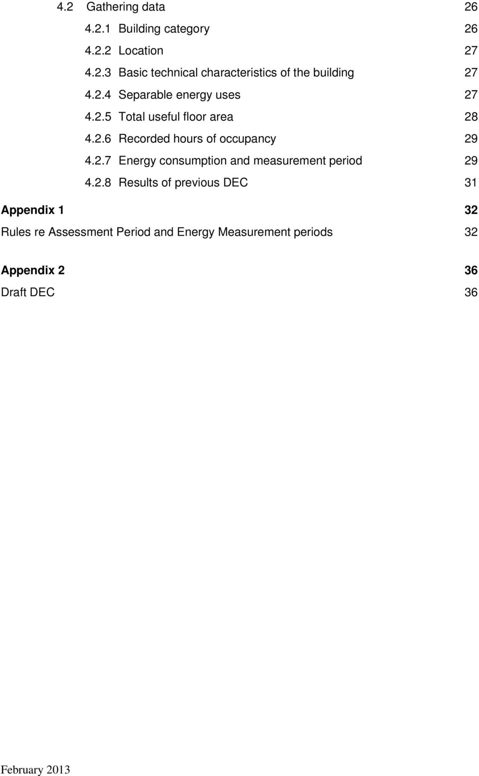 2.8 Results of previous DEC 31 Appendix 1 32 Rules re Assessment Period and Energy Measurement periods