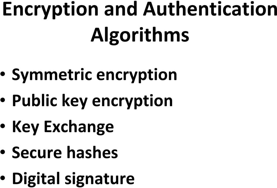 Public key encryption Key