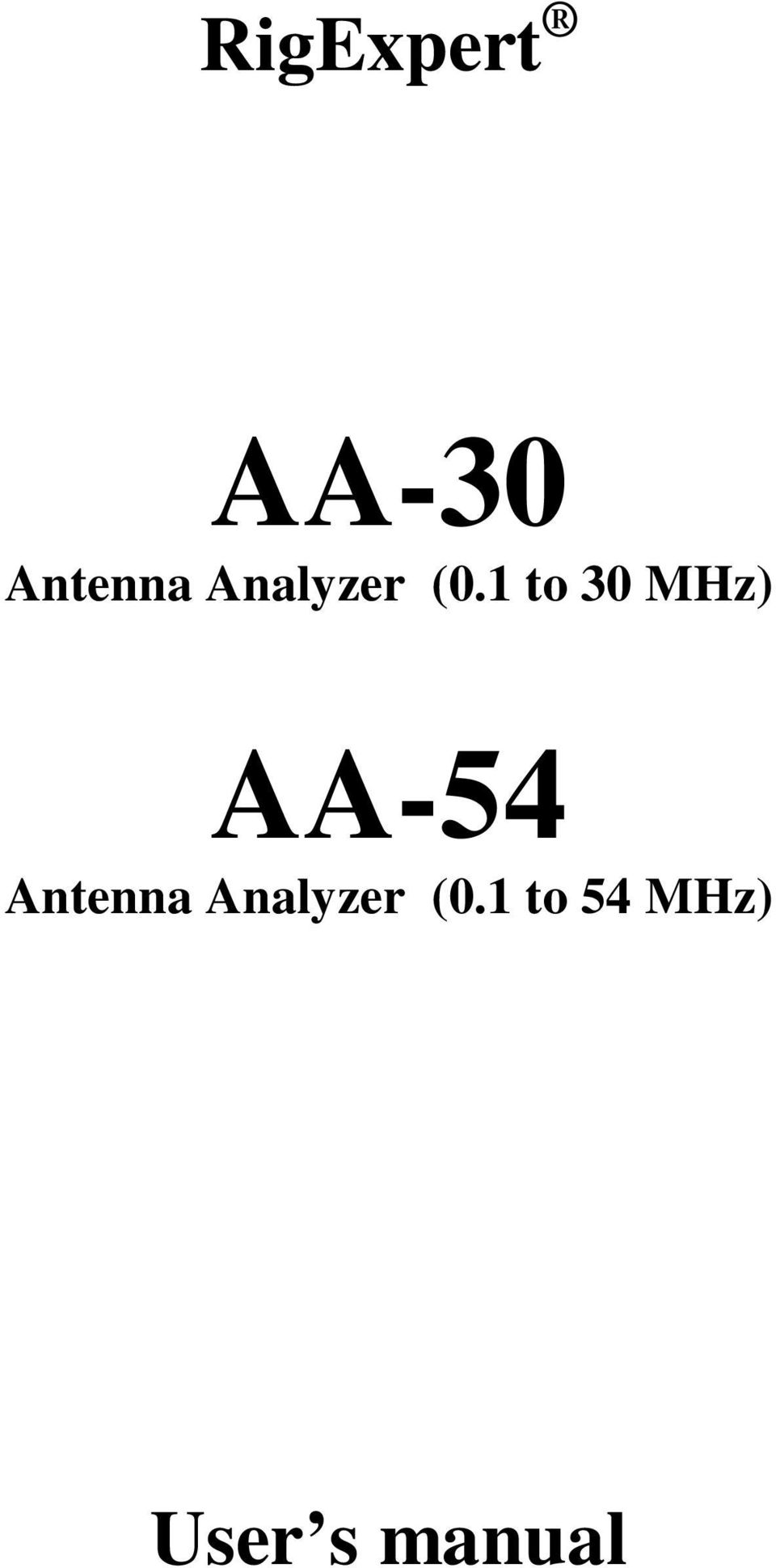 1 to 30 MHz) AA-54