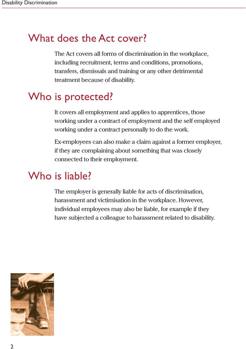 disability. Who is protected?