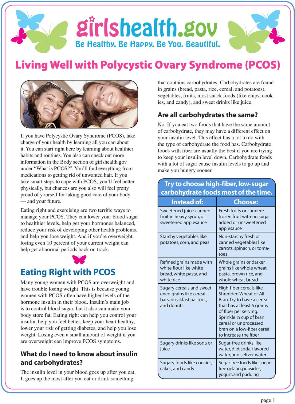 If you have Polycystic Ovary Syndrome (PCOS), take charge of your health by learning all you can about it. You can start right here by learning about healthier habits and routines.