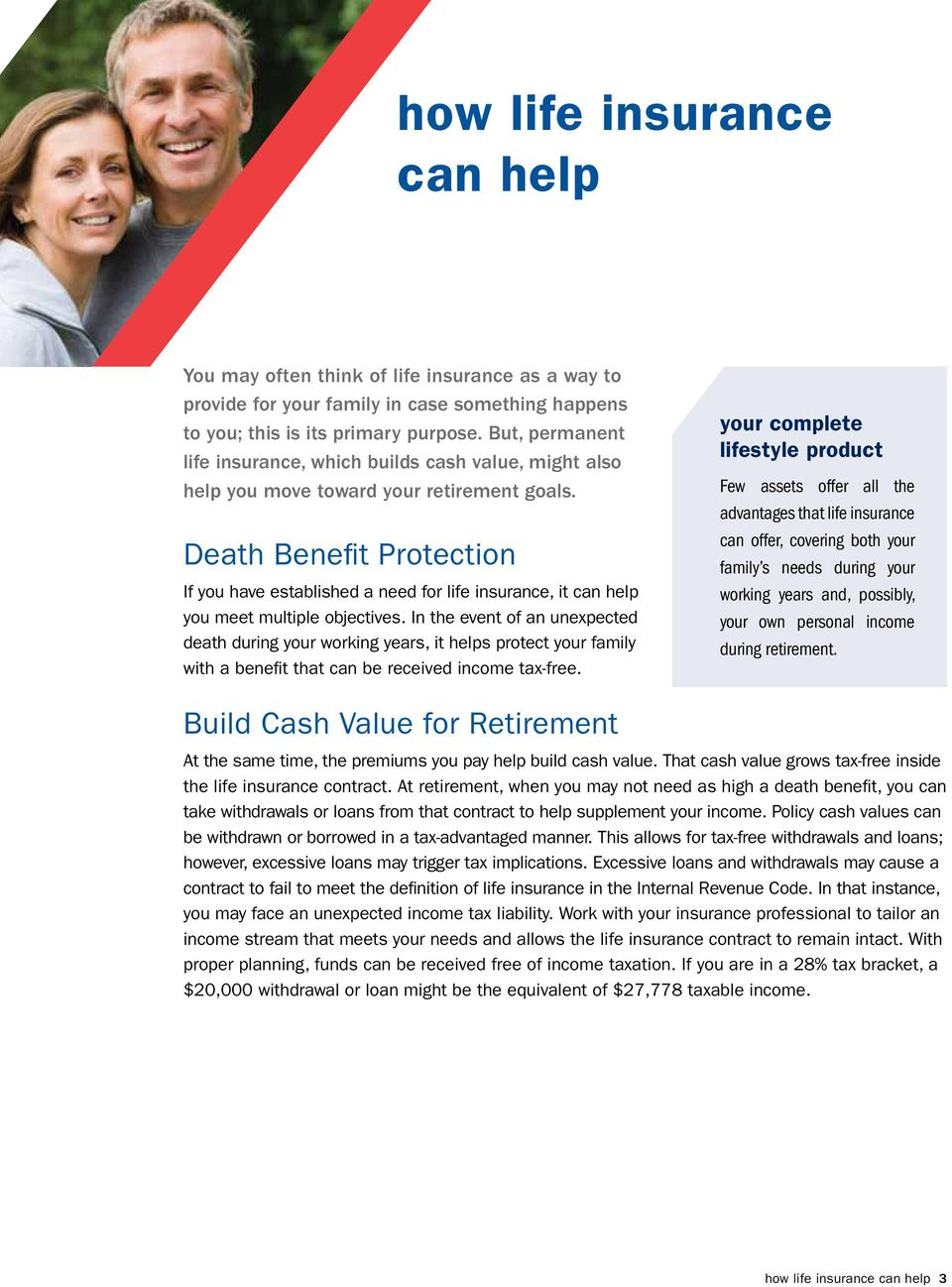 Death Benefit Protection If you have established a need for life insurance, it can help you meet multiple objectives.