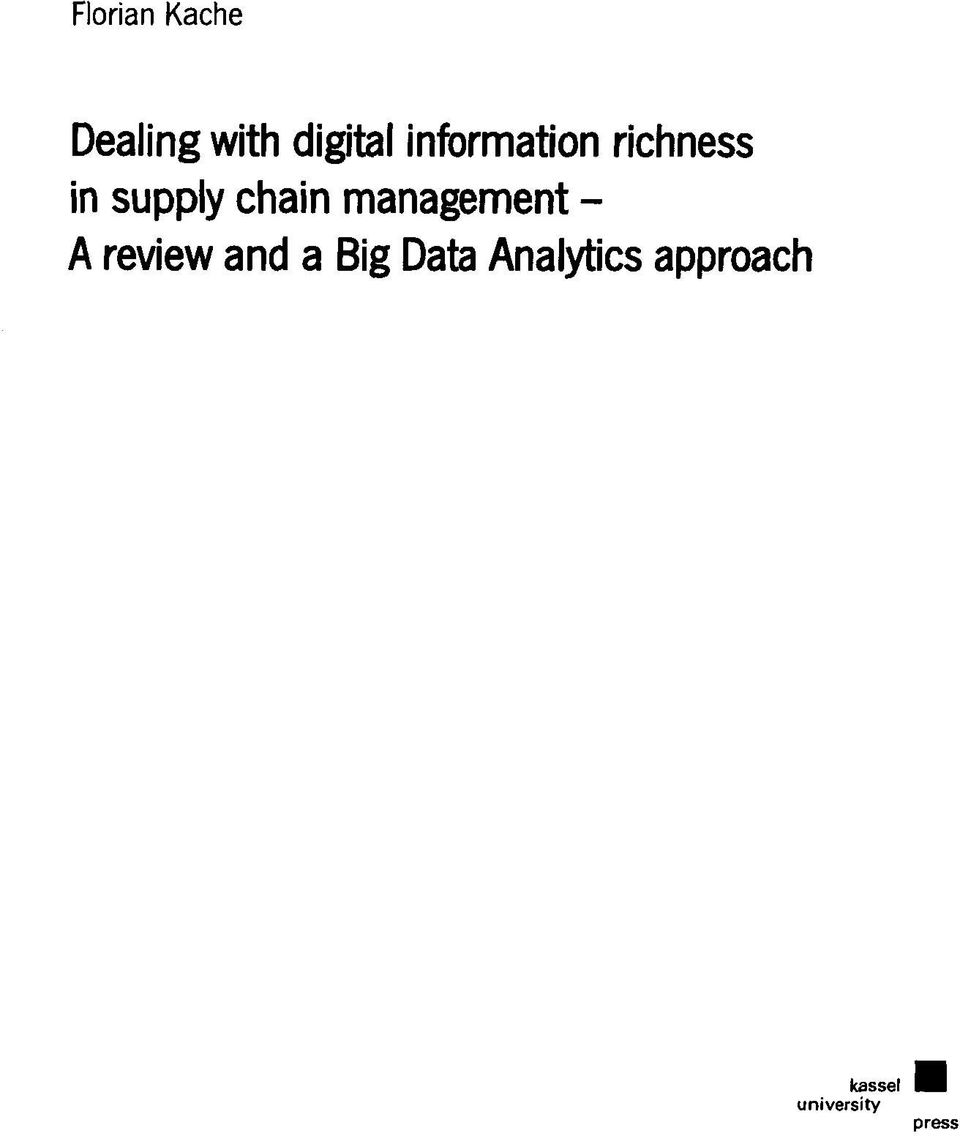 Management - A review and a Big Data