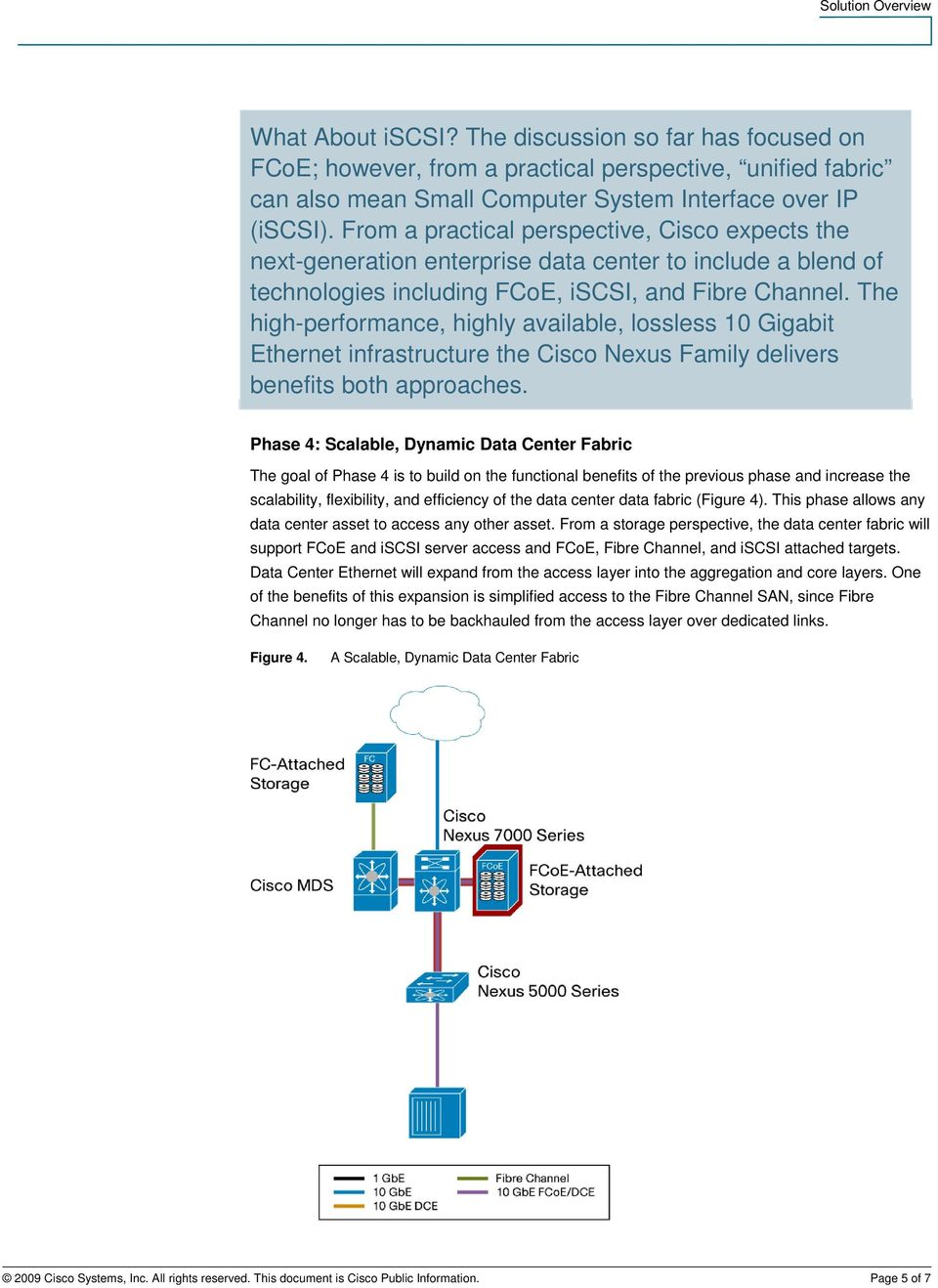 The high-performance, highly available, lossless 10 Gigabit Ethernet infrastructure the Cisco Nexus Family delivers benefits both approaches.