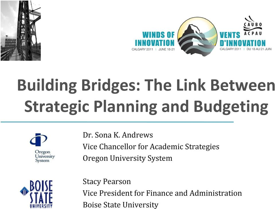 Andrews Vice Chancellor for Academic Strategies Oregon