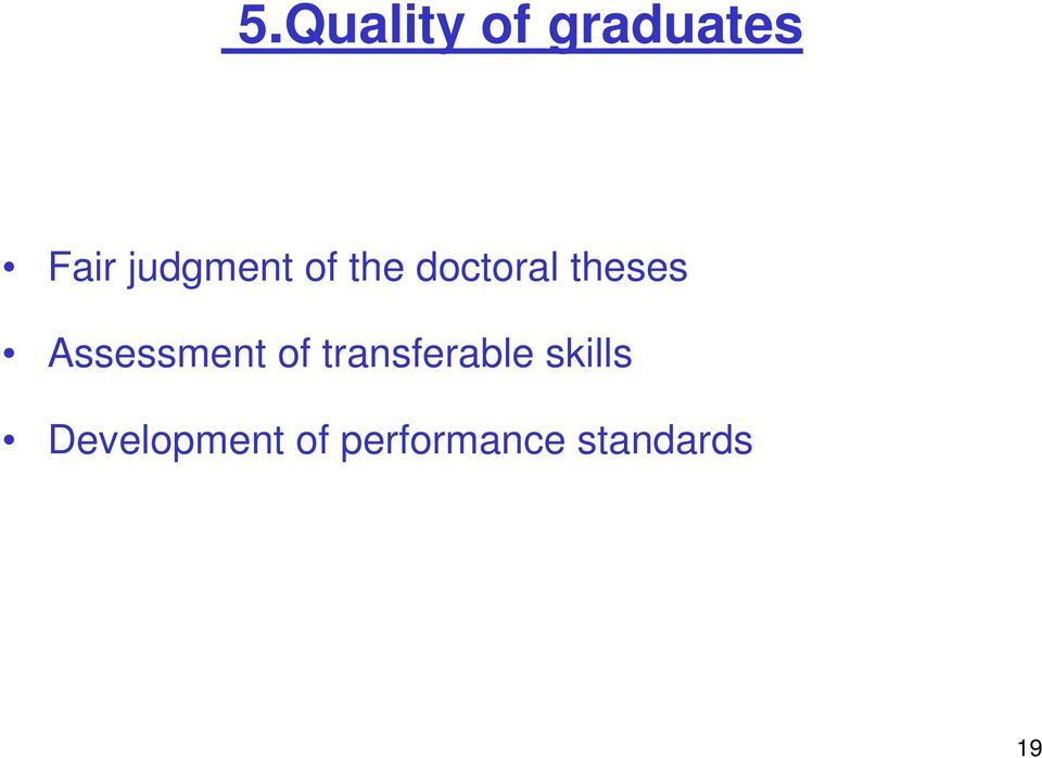 Assessment of transferable skills