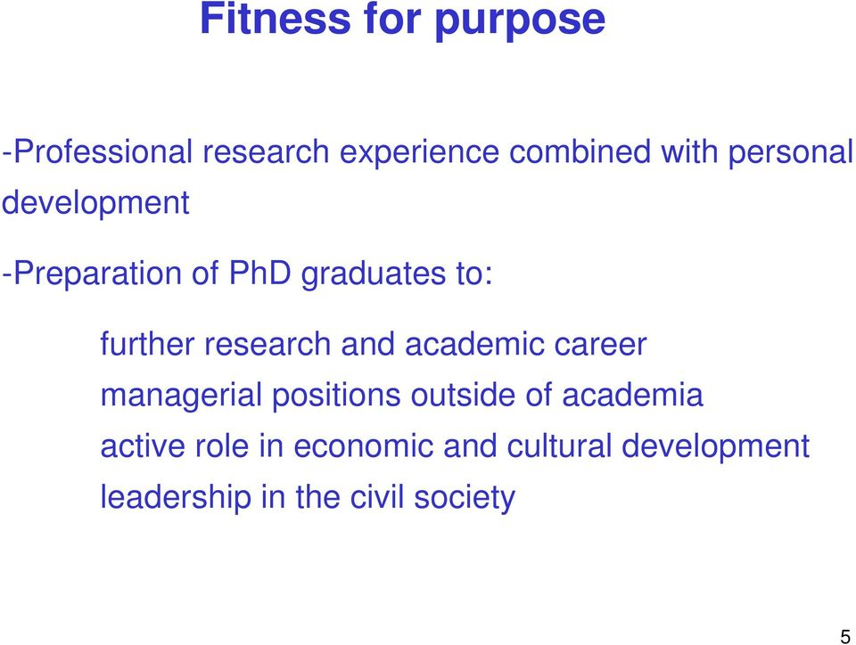 research and academic career managerial positions outside of academia