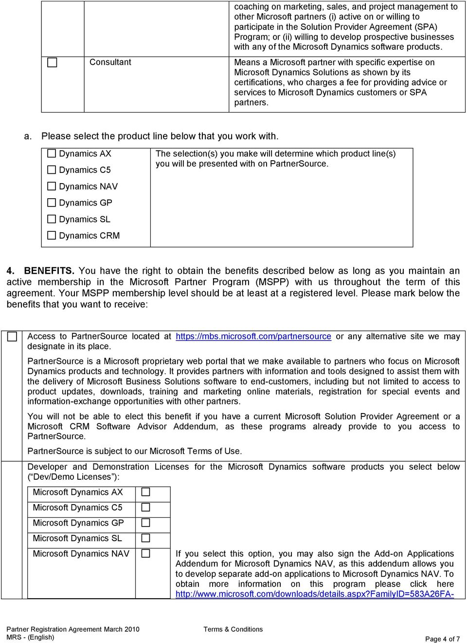 Microsoft Dynamics Partner Registration Agreement Pdf