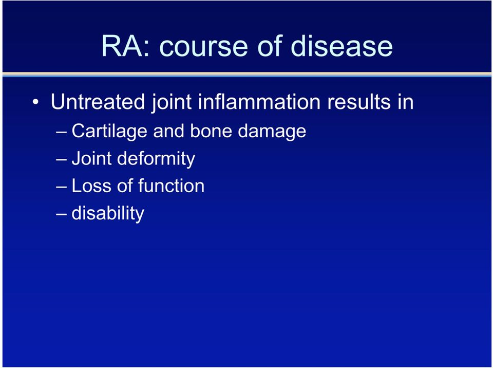 Cartilage and bone damage Joint
