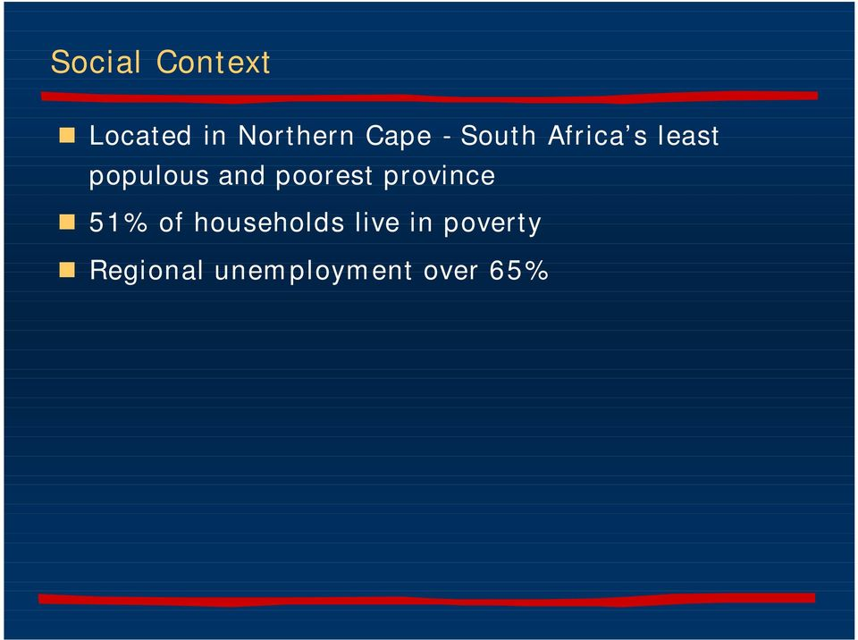 poorest province 51% of households live