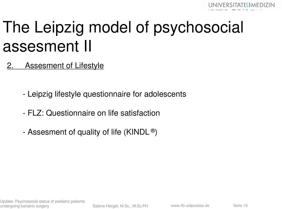 for adolescents - FLZ: Questionnaire on life satisfaction