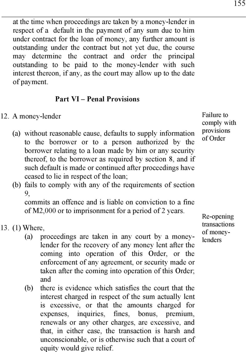 the date of payment. Part VI Penal Provisions 12.