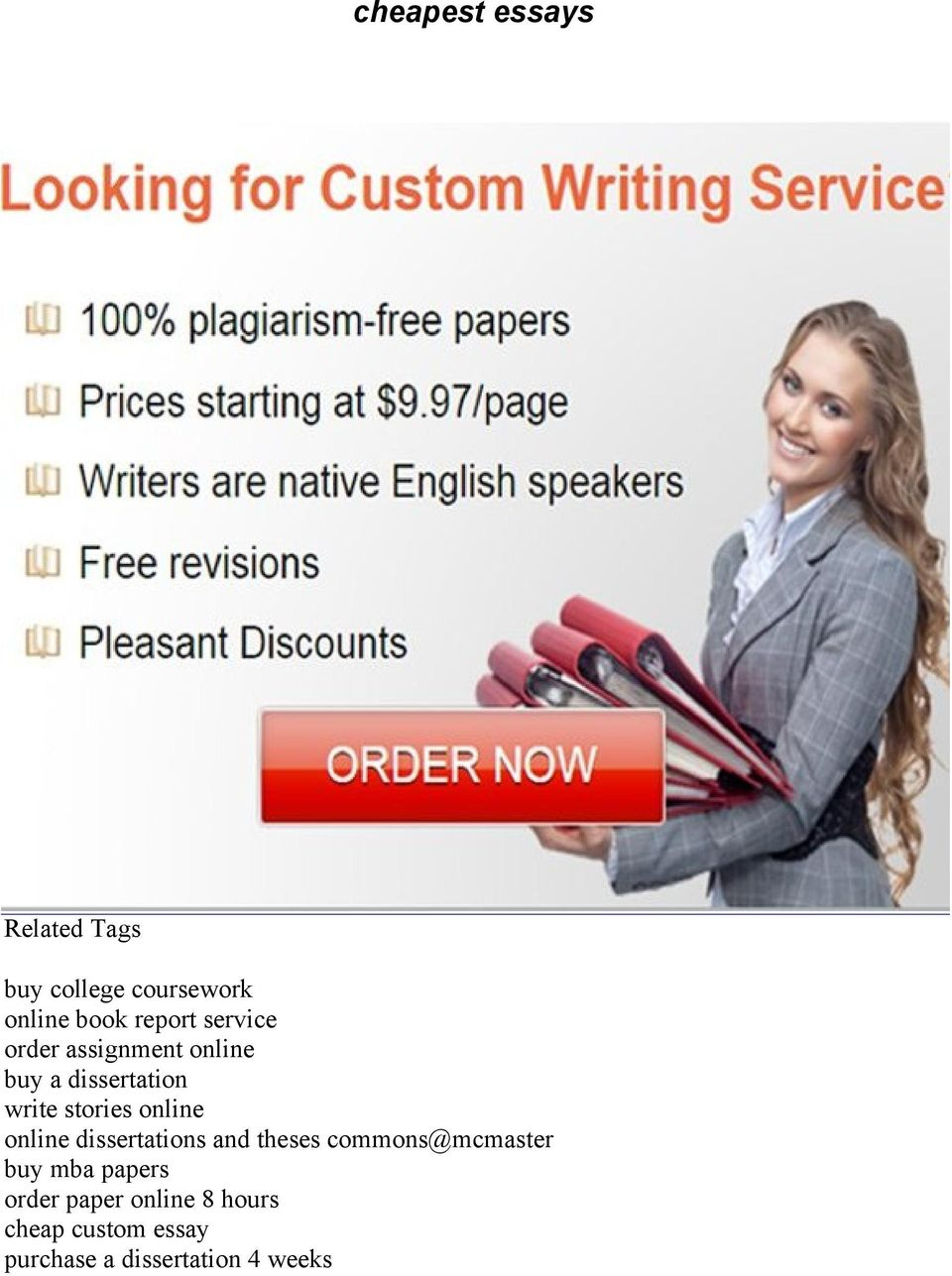 Cheapest Essays Related Tags  Pdf Online Online Dissertations And Theses Commonsmcmaster Buy Mba Papers