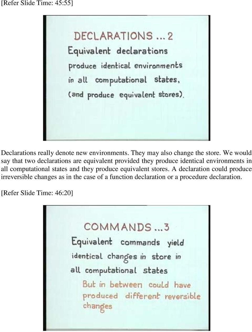 computational states and they produce equivalent stores.