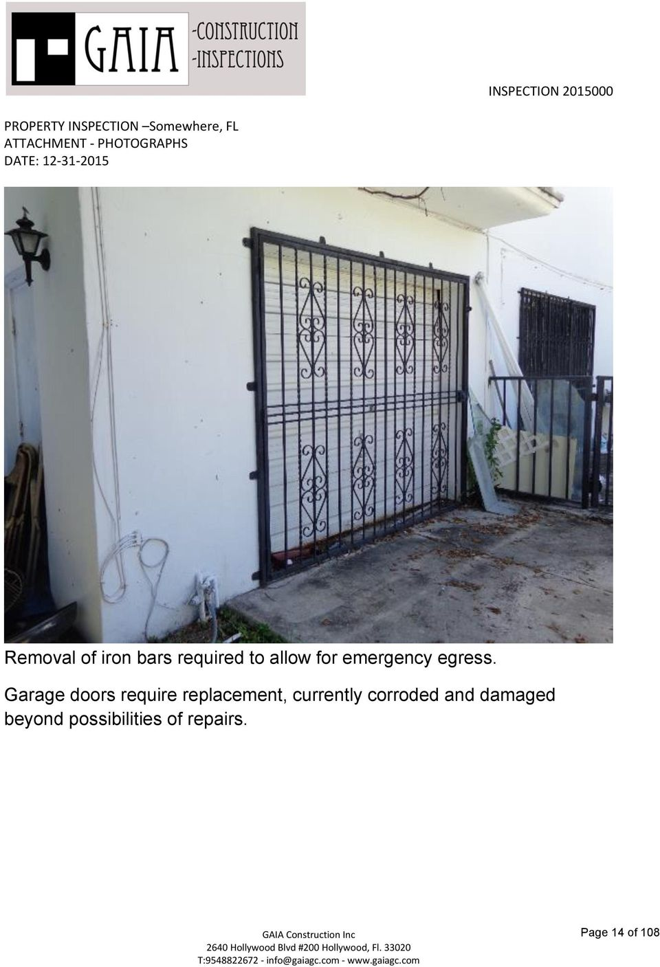 Garage doors require replacement, currently