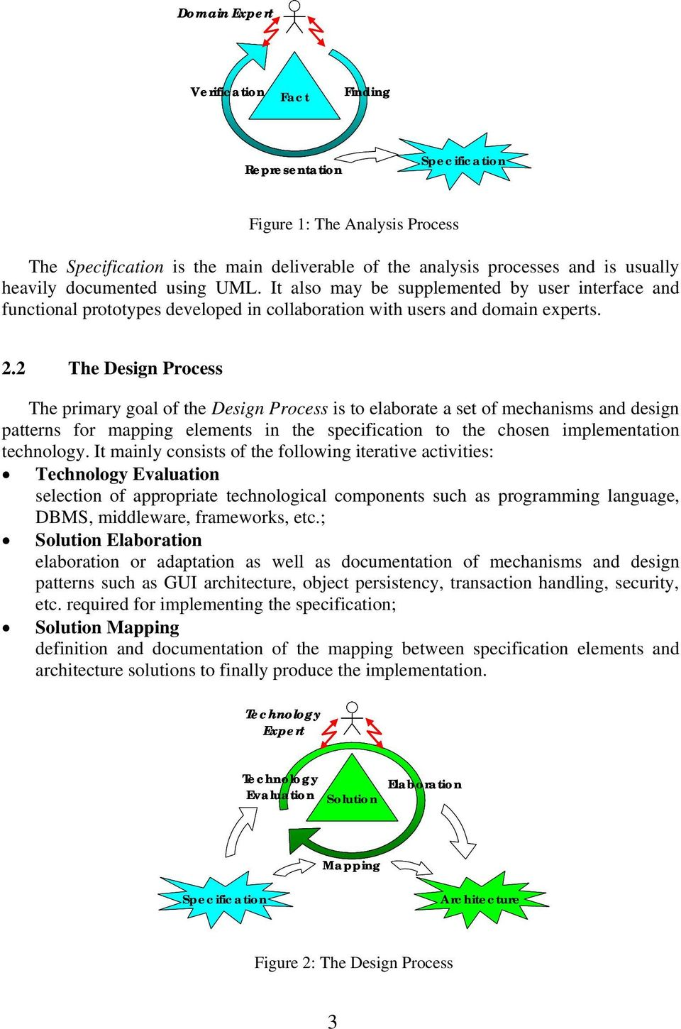 2 The Design Process The primary goal of the Design Process is to elaborate a set of mechanisms and design patterns for mapping elements in the specification to the chosen implementation technology.