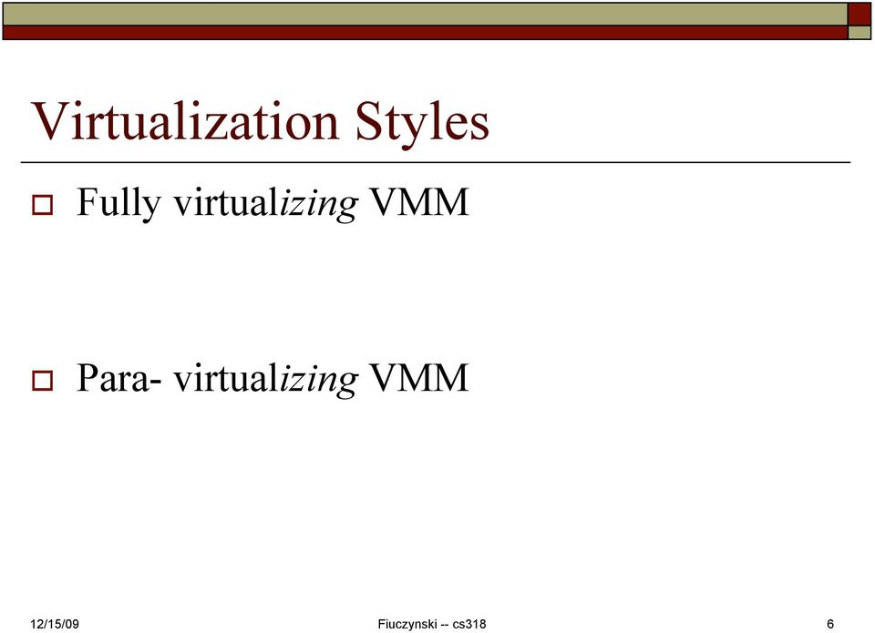 virtualizing VMM