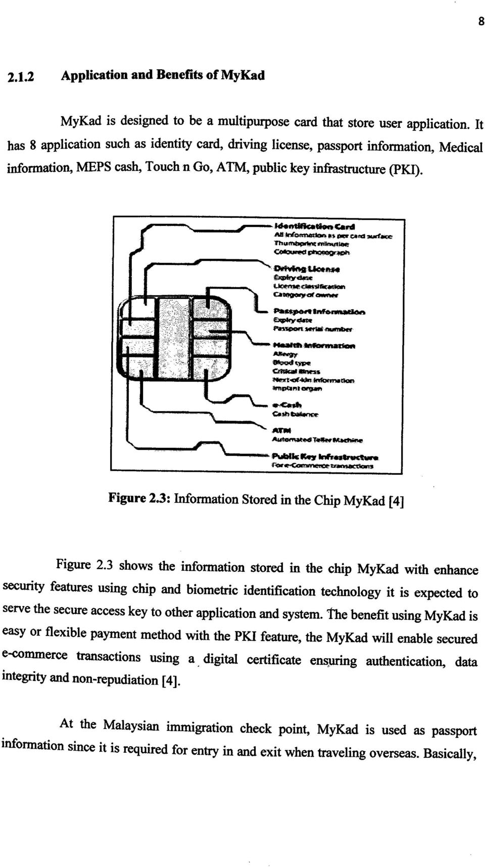 3: Information Stored in the Chip MyKad [4] Figure 2.