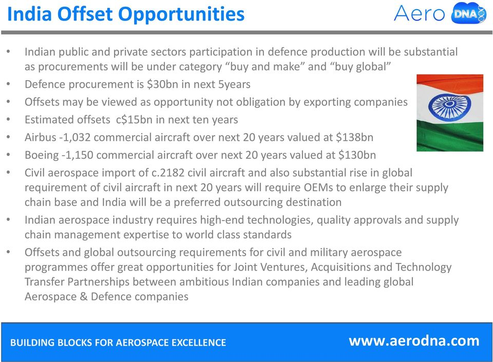 20 years valued at $138bn Boeing -1,150 commercial aircraft over next 20 years valued at $130bn Civil aerospace import of c.