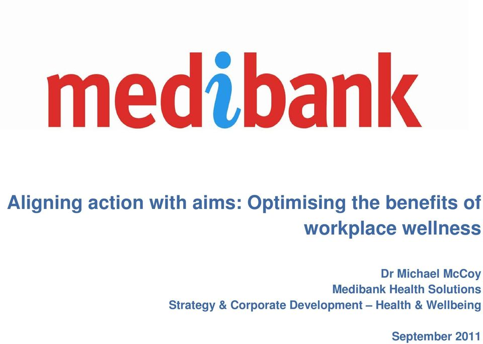 McCoy Medibank Health Solutions Strategy &