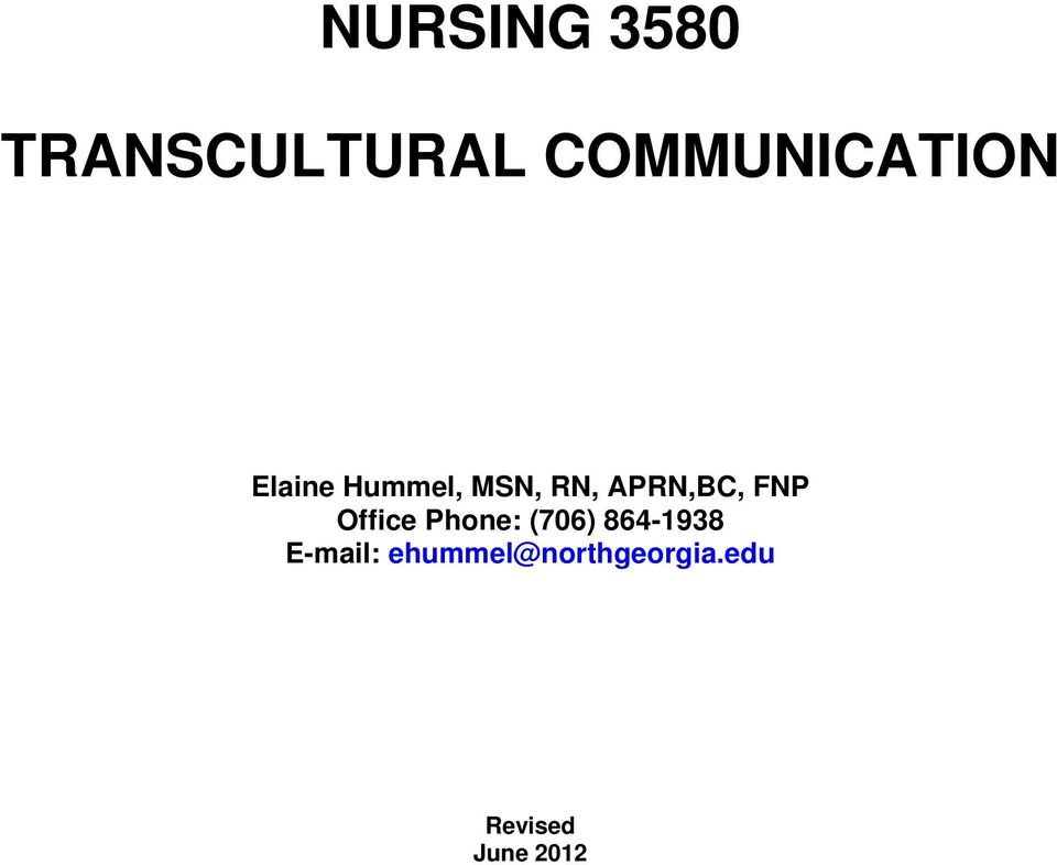 APRN,BC, FNP Office Phone: (706)