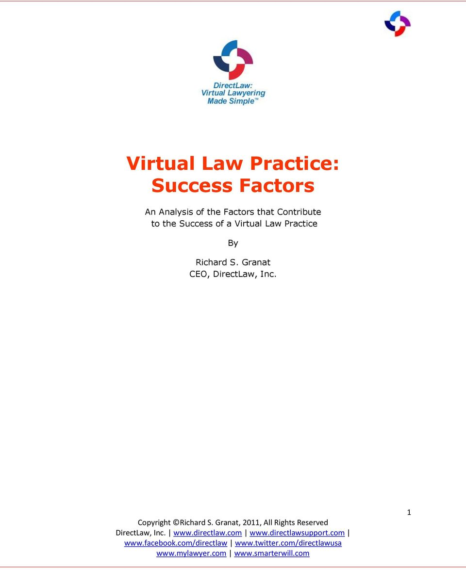 to the Success of a Virtual Law Practice
