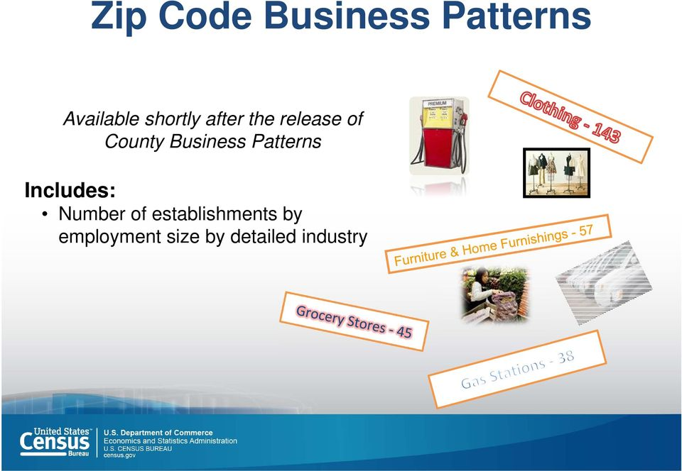 Business Patterns Includes: Number of